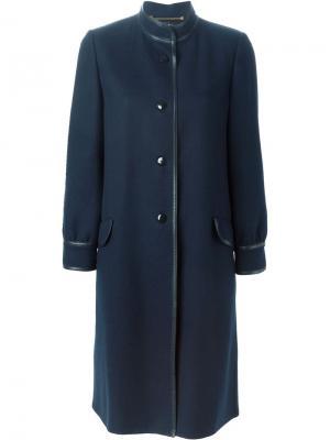 Пальто на пуговицах Louis Feraud Vintage. Цвет: синий