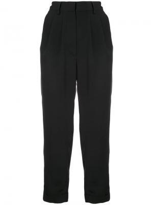 Зауженные брюки строгого кроя Mm6 Maison Margiela. Цвет: черный