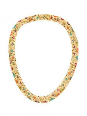 Ожерелье с камнями Susan Caplan Vintage. Цвет: золотистый