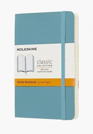 Блокнот Moleskine. Цвет: голубой