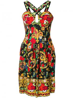 Платье с узором Christian Lacroix Vintage. Цвет: разноцветный
