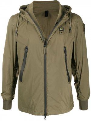 Легкая куртка на молнии Blauer. Цвет: зеленый