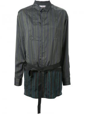 Полосатая рубашка A.F.Vandevorst. Цвет: зелёный