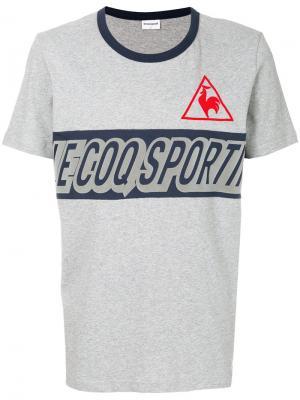 Футболка с принтом логотипа Le Coq Sportif. Цвет: серый