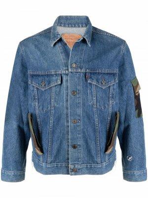 Dont Worry джинсовая куртка с камуфляжным принтом Don't. Цвет: синий