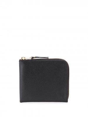 Маленький кошелек с круговой молнией Comme Des Garçons Wallet. Цвет: черный