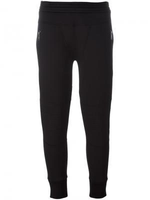 Укороченные спортивные брюки Neil Barrett. Цвет: черный