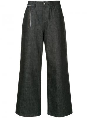 Широкие джинсовые брюки Marni. Цвет: синий