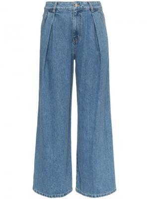 Широкие джинсы с завышенной талией SJYP. Цвет: синий