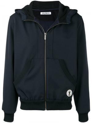 Zipped hooded jacket Dirk Bikkembergs. Цвет: синий