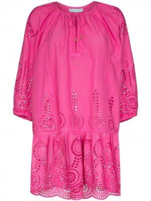 Пляжное платье с английской вышивкой Melissa Odabash. Цвет: розовый