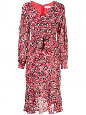 Платье Kinsale с цветочным принтом Parker. Цвет: красный