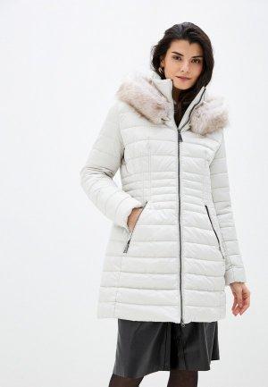 Куртка утепленная Betty Barclay. Цвет: бежевый