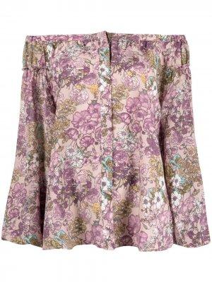 Блузка с цветочным принтом Gold Hawk. Цвет: розовый