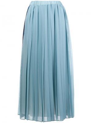 Плиссированная юбка Ultràchic. Цвет: синий