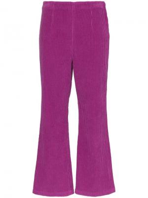 Вельветовые брюки с завышенной талией Mara Hoffman. Цвет: фиолетовый