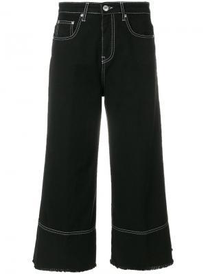 Расклешенные укороченные джинсы MSGM. Цвет: черный