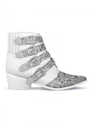 Ботинки AJ006 Toga Pulla. Цвет: белый