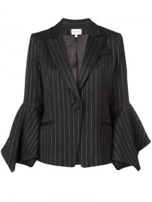 Пиджак в тонкую полоску Milly. Цвет: черный