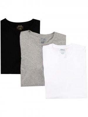 Комплект из трех футболок с круглым вырезом Polo Ralph Lauren. Цвет: белый