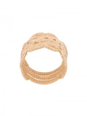Кольцо в виде плетеной веревки Aurelie Bidermann. Цвет: золотистый