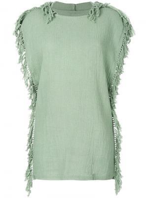 Трикотажное платье Kii Caravana. Цвет: зеленый
