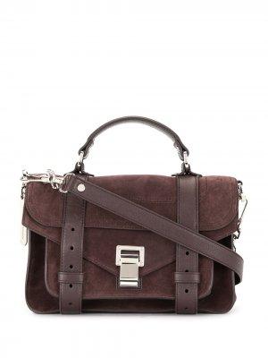 Маленькая сумка PS1 Proenza Schouler. Цвет: коричневый