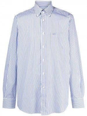 Полосатая рубашка на пуговицах Paul & Shark. Цвет: синий