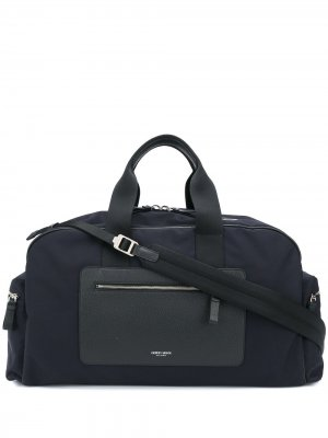 Дорожная сумка с контрастной окантовкой Giorgio Armani. Цвет: синий