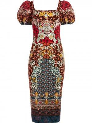 Приталенное платье Lexia Alice+Olivia. Цвет: красный