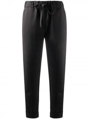 Укороченные брюки с кулиской Semicouture. Цвет: черный