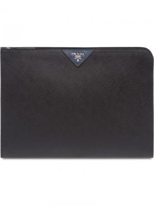 Папка для документов Prada. Цвет: черный