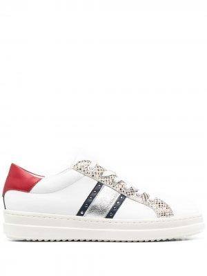 Кроссовки Pontoise со вставками Geox. Цвет: белый