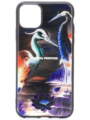 Чехол Times для iPhone 11 Pro Max Heron Preston. Цвет: черный