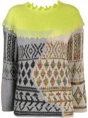 Комбинированный свитер Antonio Marras. Цвет: зеленый