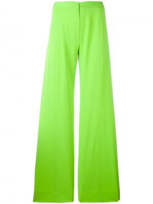 Широкие брюки Emanuel Ungaro Pre-Owned. Цвет: зеленый