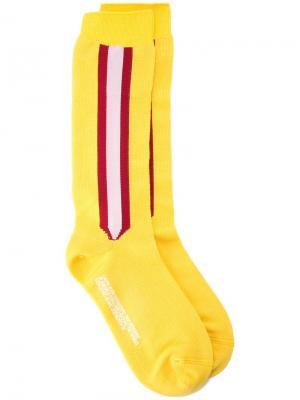 Носки с боковыми полосками Calvin Klein 205W39nyc. Цвет: желтый