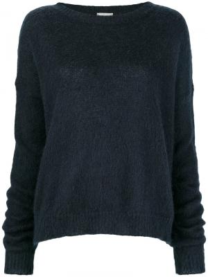 Round neck jumper Alysi. Цвет: синий