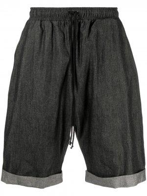 Джинсовые шорты с кулиской Alchemy. Цвет: черный