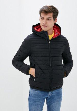 Куртка утепленная Tommy Hilfiger. Цвет: черный