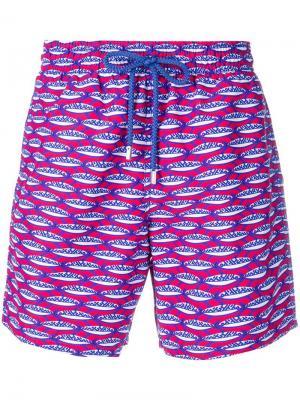 Пляжные шорты с принтом Vilebrequin. Цвет: синий