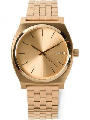 Часы Time teller Nixon. Цвет: металлик
