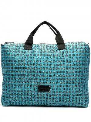Дорожная сумка с геометричным принтом 10 CORSO COMO. Цвет: синий
