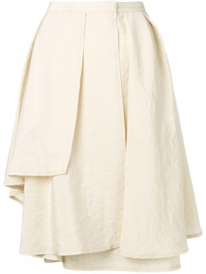 Драпированная юбка миди Lemaire. Цвет: нейтральные цвета