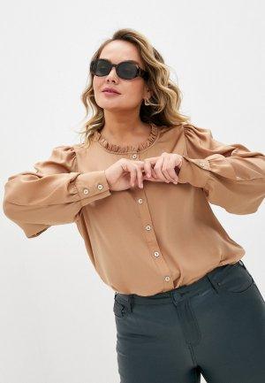 Блуза Zizzi. Цвет: бежевый
