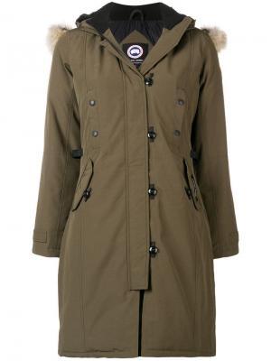 Kensington parka coat Canada Goose. Цвет: зеленый