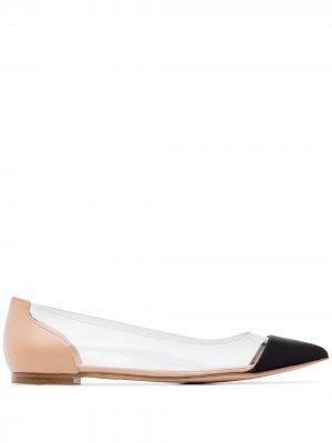Туфли-лодочки с заостренным носком Gianvito Rossi. Цвет: черный