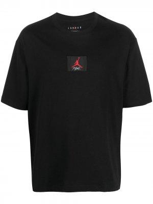 Футболка с нашивкой-логотипом Jordan. Цвет: черный