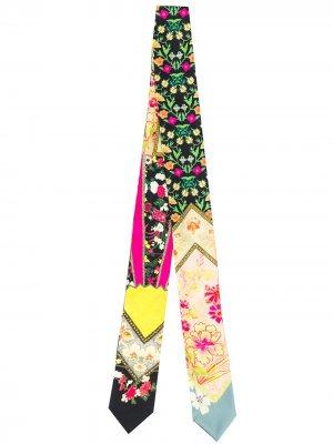 Узкий шарф с принтом Etro. Цвет: черный