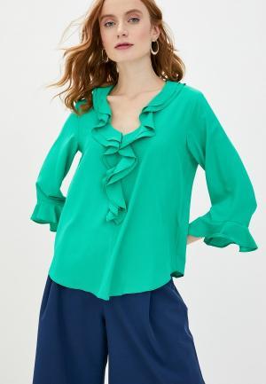 Блуза Wallis. Цвет: бирюзовый